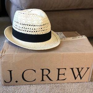 J.Crew straw fedora